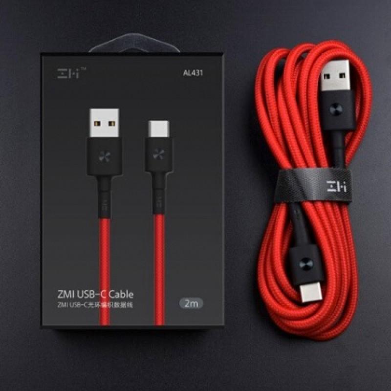 Кабель Xiaomi ZMI USB - Type-C длиной 2 метра