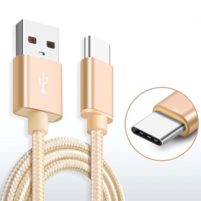 Кабель Xiaomi Mi USB to USB type-C cable, Gold, TPU +Aliminium