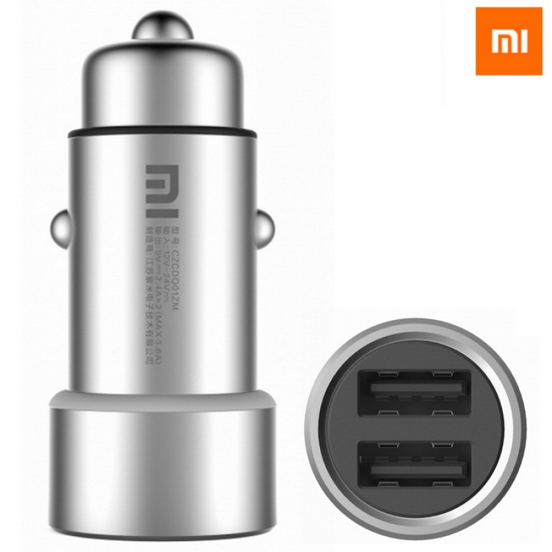 Xiaomi Mi Car Charger, автомобильное зарядное устройство, 2xUSB 2.1Ah (max 3.6Ah)